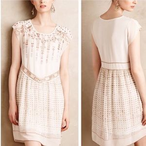ANTHRO▪️One September Calliope Embroidered Dress.